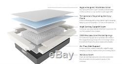 OTTY 2000 Pocket Spring Hybrid & Memory Foam Mattress Refreshed all sizes