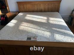 OakFurnitureLand Super King-size Bed & 2,000 pocket sprung memory foam mattress