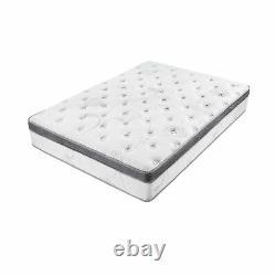 Olee Sleep Spring Mattress Hybrid Euro Box Top Pocket 12 Inch Queen Q12SM01MOLVC