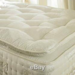 Organic 2000 Pocket Sprung Pillow Top Mattress 3ft 4ft 4ft6 Double 5ft King Size