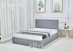 Ottoman Storage Bed Gas Lift Up Bed Frame With Deluxe Spring or Foam Mattress