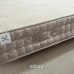 Pocket Sprung Mattress, Bamboo 2000 Memory and Reflex Foam Medium Firm 2ft6