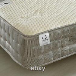 Pocket Sprung Mattress, Bamboo 2000 Memory and Reflex Foam Medium Firm 6 Sizes
