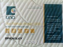 REDUCEDDouble Mattress Breasley UNO1000 Pocket Sprung Spring 4ft6 Orthopaedic