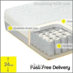 SUPERKING Dormeo Options Hybrid Mattress Pocket Springs & Memory Foam 24Cm High