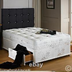 Sale Hf4you 3000 Pocket Sprung Memory Foam Divan Bed Set, Single, Double, King