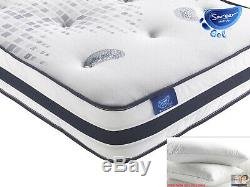 Sareer 1000 Pocket Sprung Gel Memory Foam Mattress Various Size FREE PILLOWS