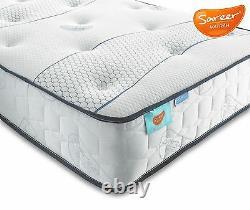 Sareer Cool Blue Pocket Memory Mattress Foam & Pocket Sprung All Sizes