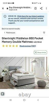 Silentnight 800 Pocket Memory Foam Medium Feel Double Mattress