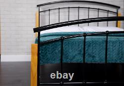 Silver Metal Bed Frame 3ft 4ft 4ft6 5ft Double King Size Memory Foam Mattress