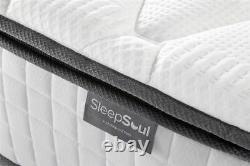 Sleep Soul Bliss 6FT Super King Size 180cm Mattress Memory Foam Pocket Sprung