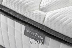 Sleep Soul Bliss Small Double 120cm 4FT Mattress Pillow Top Memory Foam Pocket
