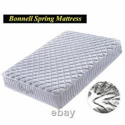 White Memory Foam Mattress Sprung Medium Firm 4FT6 5FT 6FT King Thick Mattress
