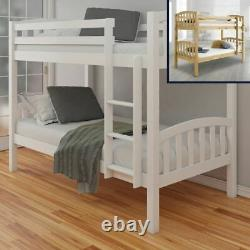 Wood Bunk Bed, American Children's Sleeper Single with 2 Size 4 Mattress Options
