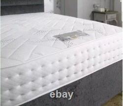 4ft6 Double 2000 Pocket Spring Mattress Memory Foam Luxury Double Divan Bed Set