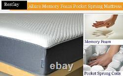 Allure Premium Collection Memory Foam Pocket Sprung Matelas Toutes Tailles