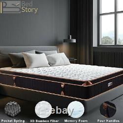 Bedstory 10in Luxury Pocket Spring Memory Mousse Hybrid Double Matelas Simple