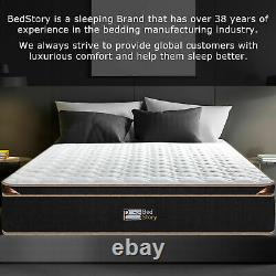 Bedstory 10in Pocket Spring Double Matelas Memory Mousse Hybrid Matelas Firm