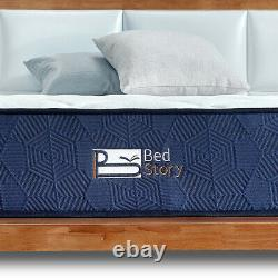 Bedstory 22cm Double Pocket Sprung Mémoire Mousse Matelas Moyen Entreprise Oeko-tex 100
