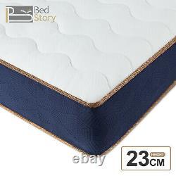 Bedstory 23cm Memory Mousse Pocket Sprung Hybrid Matelas Medium Firm Single Bed