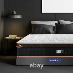 Bedstory Single 3ft Memory Foam Matress Hybrid Pocket Sprung Orthopédique 28cm