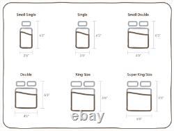 Cible Santorin 3000 Pocket Sprung Soft Memory Foam Topped 3ft, 4ft6, 5ft