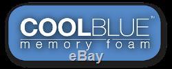 Cool Blue Mousse À Mémoire Matelas Simple 3ft 4ft 4ft6 Double 5ft Roi 6ft
