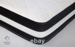 Cool Pocket Sprung Memory Foam Matelas 3ft Simple 4ft6 Double 5ft King