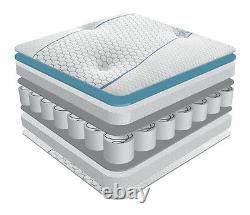 Coolblue Memory Foam Pocket Sprung Matelas 2ft6, 3ft, 4ft 4ft6, 5ft, 6ft