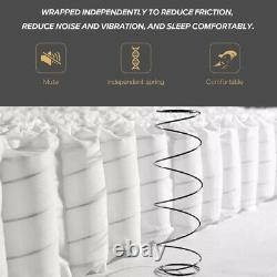 Gude Night Memory Foam Mattress Pocket Sprung Bed Orthopédique 20cm