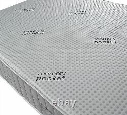 Hyder Bronze 1000 Pocket Sprung Memory Foam Matelas Différentes Tailles