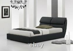 Livret 4ft6 Double & 5ft King Size Modern Leather Bed + Memory Foam Mattress