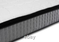 Luxe 3000 Pocket Sprung Pillow Top Single Double King Size Cachemire Matelas