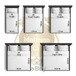 Luxe 3000 Top Memory Pocket Sprung Oreiller King Matelas Toutes Les Tailles Disponibles