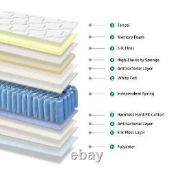 Matelas Simple Orthopédique 3ft Memory Foam Pocket Sprung Mattress Medium Firm