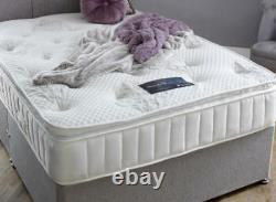 Mattress 5ft King Size Memory Pillow Top Mattress Pocket Spring Luxury Handmade