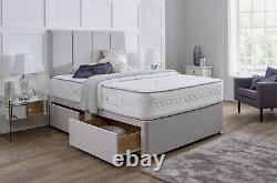 Mémoire De Stockage De Suede Fabrique Mémoire De Stockage Divan Bed Motress 4ft6 Double Roi 5ft