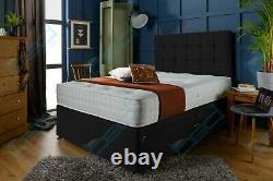 Mémoire De Suède Foam Divan Bed Set Avec Mattress Headboard 3ft 4ft6 Double 5ft King