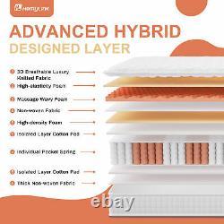 Memory Form Mattress Pocket Sprung Stainless Ergonomic Anti-mite 3 Size Bed