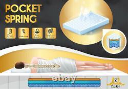 Nouvelle Offre Spéciale Zeus Cool Blue 2000 Pocket Memory Foam Mattress Toutes Tailles