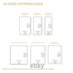 Oreiller De Luxe Top 3000 Pocket Sprung Single Double King Size Cashmere Mattress