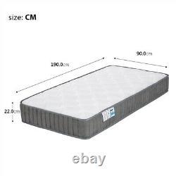 Orthopaedic 3ft Single Mattress Memory Foam Pocket Sprung Mattress Medium Firm