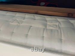Pocket Sprung Pearl 3000 Orthopeadic Mattress Memory Foam Uk + Cadre De Lit En Bois