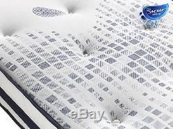 Sareer 1000 Pocket Sprung Memory Gel Matelas En Mousse Divers Taille Unique Pillows