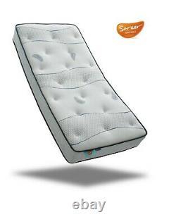 Sareer Cool Blue Pocket Memory Foam Matrah Matelas 4ft6 Double Made In Uk