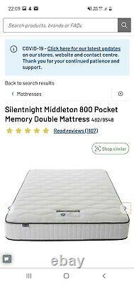 Silentnight 800 Pocket Memory Mousse Medium Feel Double Matelas
