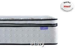 Sleep Soul Space Super King 180cm 6ft Matelas Oreiller Top Mémoire Foam Pocket