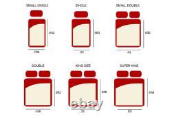 Sprung Bed Mattress Memory Foam Pocket Hypo-allergenic Convient À Tous Les Lits Neufs